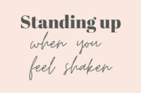 standing up when you feel shaken